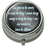Serenity Prayer Pill Case Trinket Gift Box