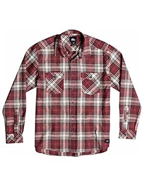 Quiksilver, Camicia in flanella Uomo, Multicolore (Everyday Flannel Rosewood), XXL