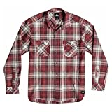 Quiksilver Camicia in flanella Uomo, Multicolore (Everyday Flannel Rosewood), XS