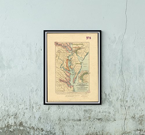 Delaware Rivers Map (New York Map Company LLC 1905 Karte Virginia, Maryland, Delaware The Colonies in 1660, Virginia, Maryland, and The Dutch and Sw, Historischer Antik-Vintage-Look)