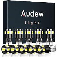 Audew Standlicht Innenbeleuchtung Innenraumbeleuchtung 9 * 2835 SMD Canbus Fehlerlose 4882K Xenon Weiß 10 Stücke