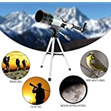 Prakal Telescope for Kids and Lunar Beginners, 90x Refractor, 360mm Focal Length, Kids Telescope for Exploring The Moon and Its Craters, Portable Telescope for Children and Beginners