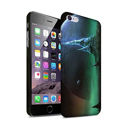 Offiziell Chris Cold Hülle / Matte Snap-On Case für Apple iPhone 6+/Plus 5.5 / Pack 12pcs Muster / Fremden Welt Kosmos Kollektion Saphir Spitzen