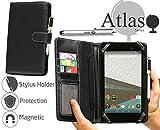 Navitech Odys Mira 17,8 cm Tablet-PC 7 Zoll bycast Leder Folio Case / Cover / Hülle in Schwarz mit Stylus