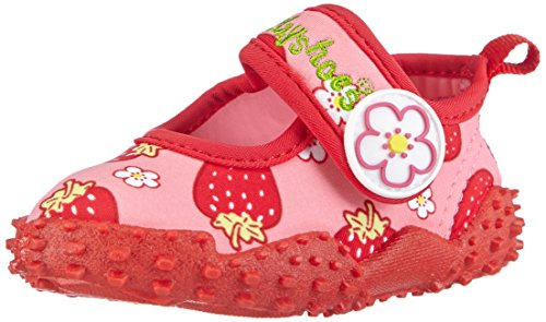 Playshoes Badeschuhe Erdbeeren mit höchstem UV-Schutz nach Standard 801 174757, Mädchen Aqua Schuhe, Pink (original 900), 24/25 EU