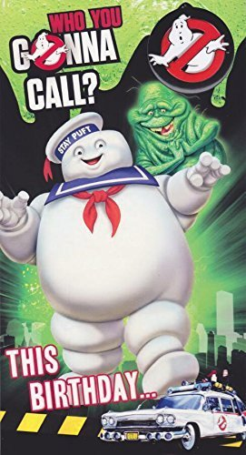 Ghostbusters-Geburtstagskarte mit Anstecker.