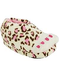 Zapatillas de estar por casa de leopardo Modelo Print Foot para niñas - Novedad