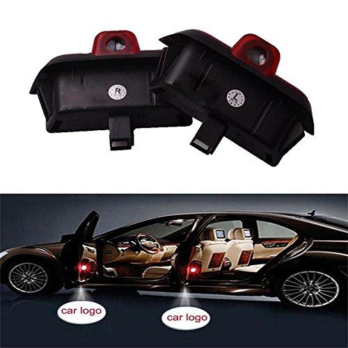 SMKJ 2 Pezzi Auto portiera Logo luce LED Proiettori Sottoporta Luce Del Portello di Automobile