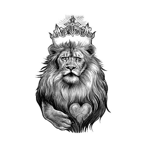 born-pretty-1-planche-tatouage-temporaire-corps-lion-sticker-impermeable