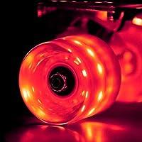 Wonnv LED Skateboard Cruiser Lot de 4 roues avec roulement ABEC-7 Roulements à billes 59 × 45 mm