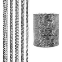 STEIGNER Cordón de Fibra de Vidrio SKD02-6, 25 m, 6 mm, Gris Oscuro Sellador Resistente a Temperaturas hasta 550°C