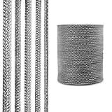 STEIGNER Ofendichtschnur Kamindichtung aus GLASFASERN, hitzebeständig bis 550°C, Dunkelgrau, 2,5m, 14mm, SKD02
