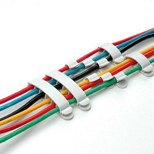 40 er kabelhalter set selbstklebend wei f r pc schreibtisch kabel halterung kabel befestigung. Black Bedroom Furniture Sets. Home Design Ideas