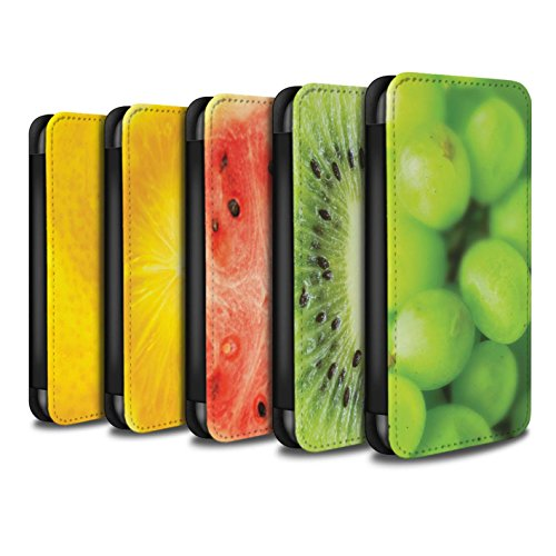 Stuff4 Coque/Etui/Housse Cuir PU Case/Cover pour Apple iPhone SE / Multipack (7 Designs) Design / Fruits Collection Multipack (7 Designs)