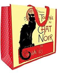 Tournee Chat Noir Black Cat Large Reuseable Shopping Bag Tote