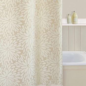 Polyester Shower Curtain Colour Cream