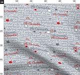 Kanada, Text, Ahornblatt Stoffe - Individuell Bedruckt von