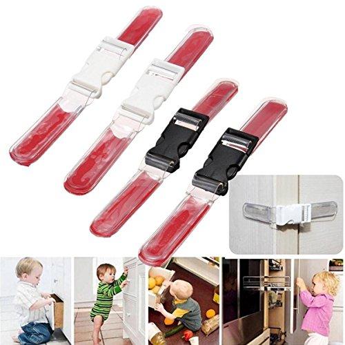 Preisvergleich Produktbild Saver 2pcs Kleinkind Baby Kind Kind Sicherheits Türschloss Tresor Schubladenschrank Kühlschrank Kabinett