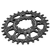 CplaplI Accessori Ciclismo, MTB Mountain Bike monoVelocit¨¤ a manovella Anello a Catena per SRAM XX1 XO X9 GXP-34T Nero