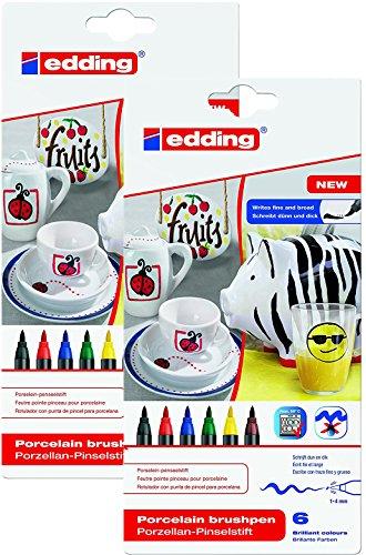 Doppelpack edding 4-4200-6 Porzellan-Pinselstift edding 4200, 1 - 4 mm, sortiert