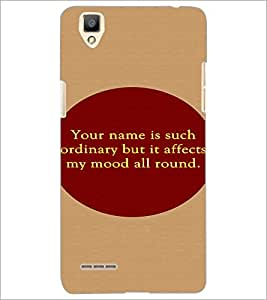 PrintDhaba Quote D-2906 Back Case Cover for OPPO F1 (Multi-Coloured)