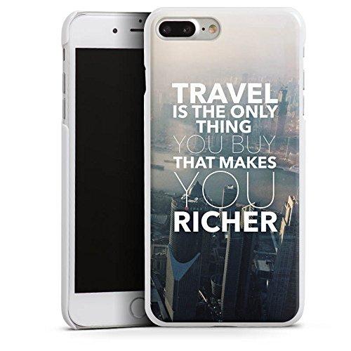 Apple iPhone X Silikon Hülle Case Schutzhülle Sprüche Reisen Stadt Hard Case weiß