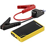 Car Motorbike Best Deals - DBPOWER 300A Peak 8000mAh Portable Car Jump Starter Battery Booster Pack Power Bank with LED Torch for Phone Tablet and More, 2.5L Petrol Engine Max (Black/Yellow)