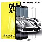 Dosnto Xiaomi A2 Bildschirmschutzfolie 2 Stück Panzerglas Schutzfolie Folie 3D Glas Panzerfolie, Screen Protector Film Panzerglasfolie HD Klar Schutzglas Glasfolie Anti-Kratzer für Xiaomi A2