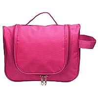 LEADSTAR Travel Toiletry Bags, Waterproof Hanging Wash Bag, Handy Cosmetic Makeup Bag Organizer (Rose)