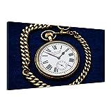 Uhr Taschenuhr Gold Wertvoll Zeiger Antik Zeit Old Alte Leinwand Fun uu0284 90x60