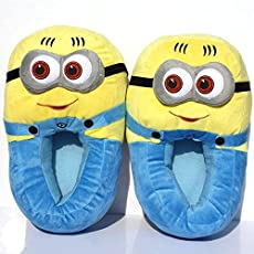Elves & Co Unisex Minion Plush Slippers 2, Free Size (Yellow, MinPSLIPPERS2)