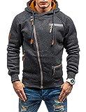 Swteeys Herren Kapuzenpullover lässig mit Kapuze Hals Lange Ärmel Reißverschluss solide Pullover Hoodies