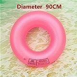 YOUYONGSR Erwachsene Runden der Bojen schwimmen Ring Schwimmen Runde aufblasbare Boje mehr Erwachsene Männer und Frauen sitzen mehr Unterarm Kreis Rosa 90 cm