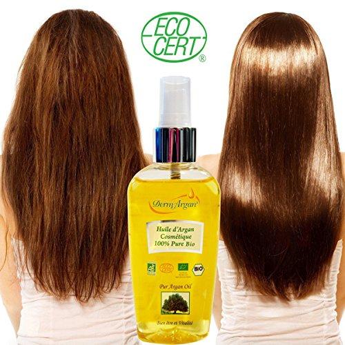 100% Reines Arganöl: Gesichtsöl, Haaröl, Körperöl, 125ml -Bio Kaltgepresstes Basisöl, Organisch Zertifiziert. Bio Öl für Haare : Sprühkur / Haarkur, Haarpflege Besser Als Eine Pflegende Haarmaske. Stärkt bei Haarausfall – Öl für Körper:Arganöl Haut Für Trockene Haut.Dehnungsstreifen Öl während der Gewichtsverlust/Anti Cellulite Pflege : Hilfe bei Orangenhaut und Cellulitis.Gegen Schuppenflechte.Öl Für Gesicht:Pflege Mit Vitamin E, Anti-Aging Gesichtsserum, Gegen Hautausschlag. - 2