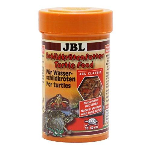 JBL Schildkrötenfutter 70362 Hauptfutter für Wasserschildkröten von 10 - 50 cm, Naturfutter mit Sticks, 100 ml