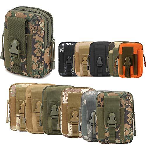 ZhaoCo Taktische Hüfttaschen, Nylon Militär Kompakt MOLLE EDC Handytasche Gürteltasche Beutel für Gadget-Dienstprogramm Camping Wandern Reise - Tarnung 05