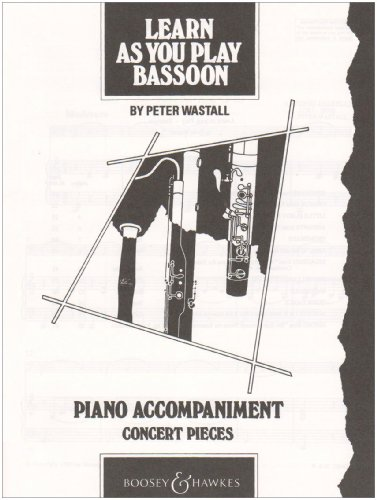 Learn as You Play Bassoon: Piano Accompaniment (Learn as You Play Series)