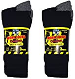 6 Pairs Men's Work Socks Re-inforced heel & Toe 6-11