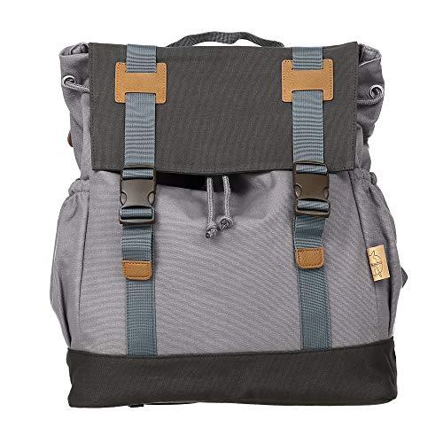 Lässig Vintage Little One und Me groß Backpack Wickelrucksack/Wickeltasche inkl. Wickelzubehör, grey - 4