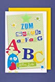 AvanCarte GmbH Einschulung Karte Grußkarte Mädchen Junge Buchstaben ABC 16x11cm