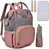 Motherly Babies Diaper Bags for Mothers with 1 Bottle Bag + 1 Changing Mat + 1 Set of Stroller Hooks (Powder Gray)