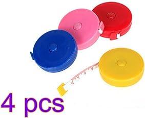 Leisial™ 4Pcs Il mini Rullo di Plastica Ritrattabile Automatico Misura il Righello Sottile 1.5m delle Piattaforme dei Vestiti