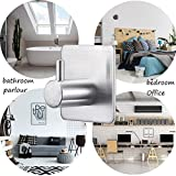 Bathroom Hooks Self Adhesive Hooks,Max 8kg Hat Towel Robe Coat Stick-up Stainless Steel Hanger for Kitchenware Bathrooms Lavatory Closets Wall, 4 Pack