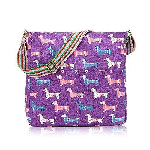Stylla London, Borsa a tracolla donna Sausage Dog Purple Sausage Dog Purple