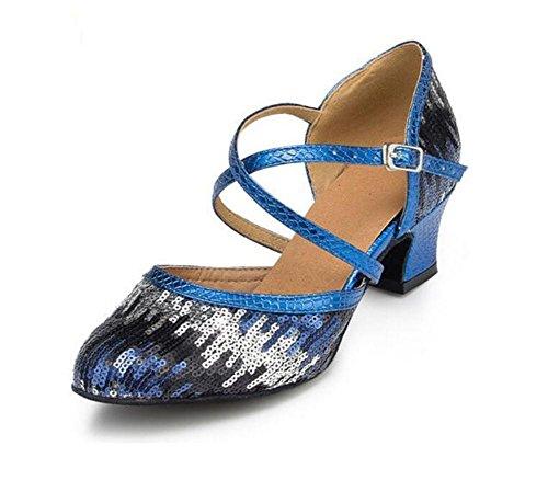 Scarpe da donna Cinturino incrociato con paillettes Sala da ballo latino  Taogo Dimensioni della pompa da