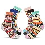 Emooqi Damen Socken, 6 Paare Baumwollsocken/Warme Wintersocken Frauen Socken für Mädchen (EU Size 35~42)