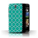 Stuff4® Hülle/Case für HTC Desire 820 Mini/Quatrefoil/Klee Muster/Teal Mode Kollektion
