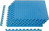AmazonBasics Puzzle Exercise Mat with EVA Foam Interlocking Tiles - Blue