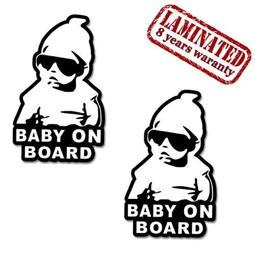 2 Stück Vinyl Aufkleber Autoaufkleber Stickers Baby On Board Kind Sicherheit Auto Motorrad Fahrrad Fenster Tür B 167 - Aluminium-sicherheits-geldbörse
