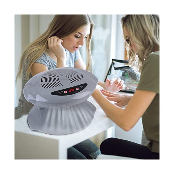 Secador de uñas, Ventilador de secado de manicura con aire frío y caliente, Herramienta de manicura para salón y hogar…